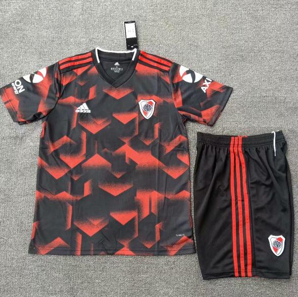 0bdadc91572 River Plate 2019/2020 Away Kids Soccer Jersey Kit Children Shirt + Shorts