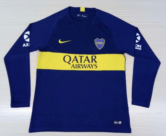 Boca Juniors 2018/19 Home Long Sleeved Shirt Soccer Jersey