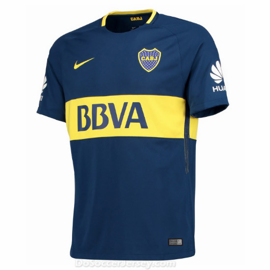 Boca Juniors 2017/18 Home Shirt Soccer Jersey