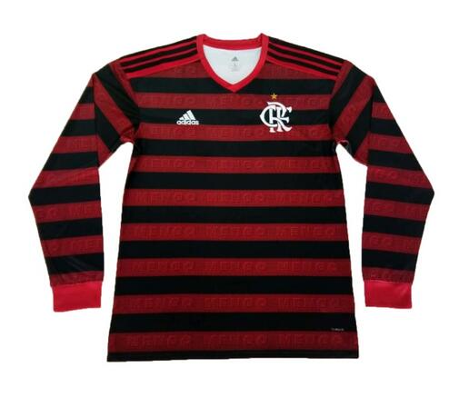 CR Flamengo 2019/2020 Home Long Sleeved Shirt Soccer Jersey