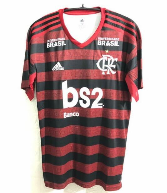 CR Flamengo 2019/2020 Home Shirt Soccer Jersey With Sponsor