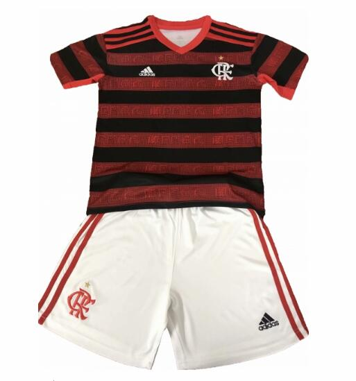 Flamengo 2019/2020 Home Children Soccer Kit Shirt And Shorts