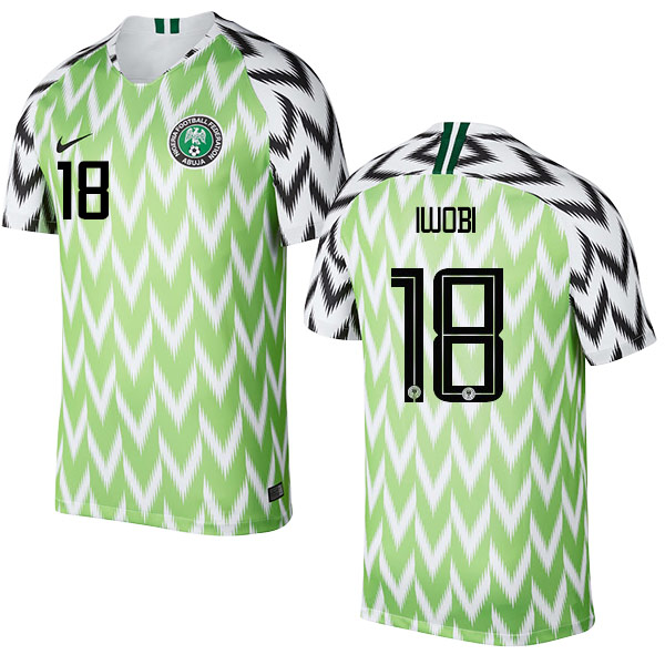 Nigeria Fifa World Cup 2018 Home Alex Iwobi 18 Shirt Soccer Jersey