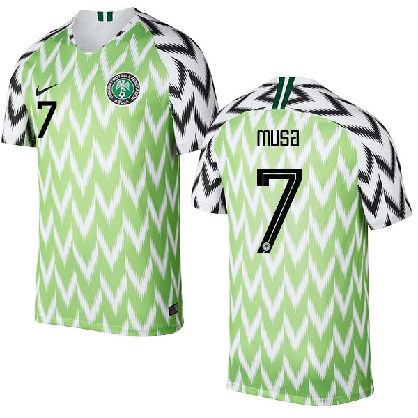 Nigeria Fifa World Cup 2018 Home Ahmed Musa 7 Shirt Soccer Jersey