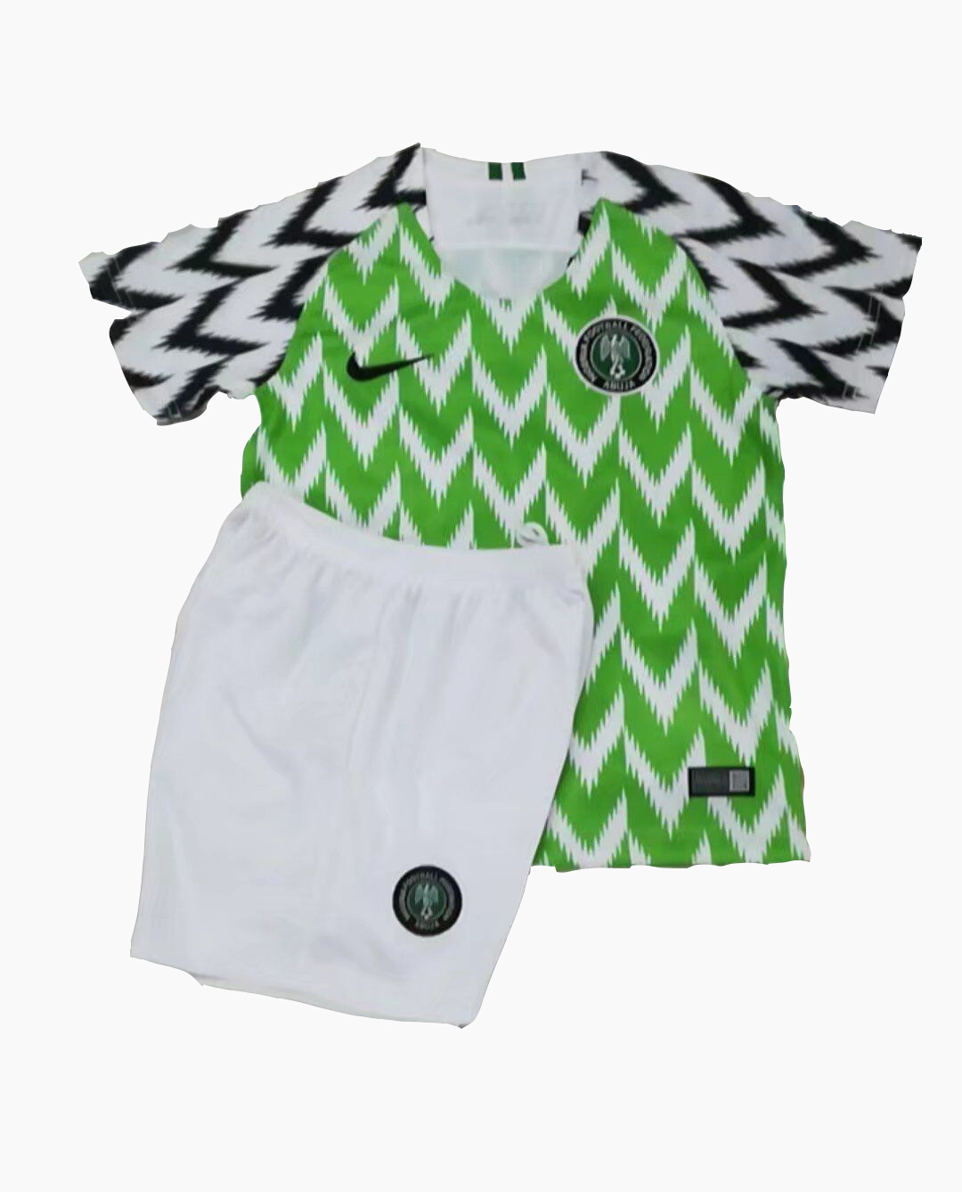 Nigeria 2018 FIFA World Cup Home Kids Soccer Kit Children Shirt And Shorts d2823a534