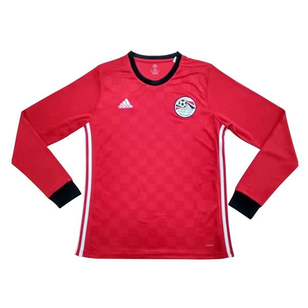 1710efd81 Egypt 2018 World Cup Home Long Sleeved Shirt Soccer Jersey