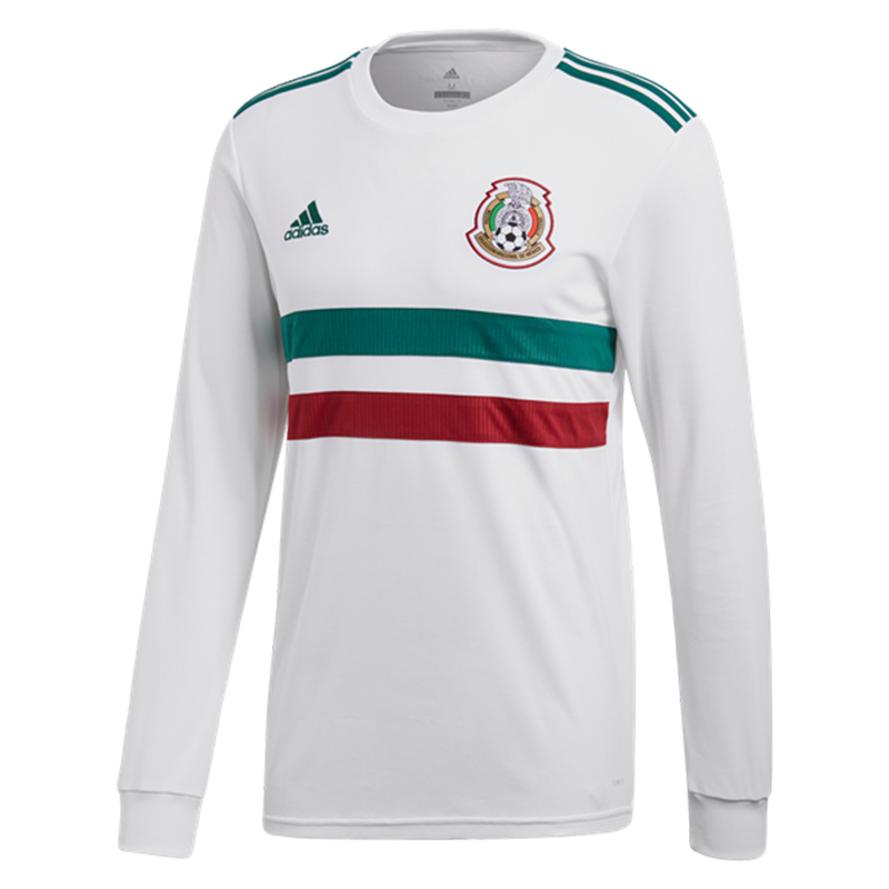 Mexico 2018 World Cup Away Long Sleeved Shirt Soccer Jersey