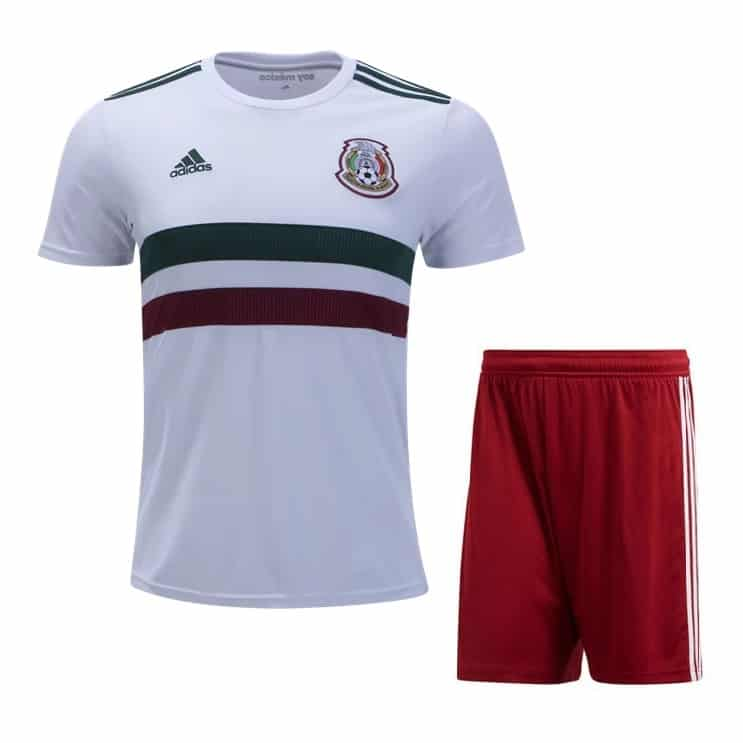 Mexico 2018 World Cup Away Soccer Uniform (Jersey+Shorts)