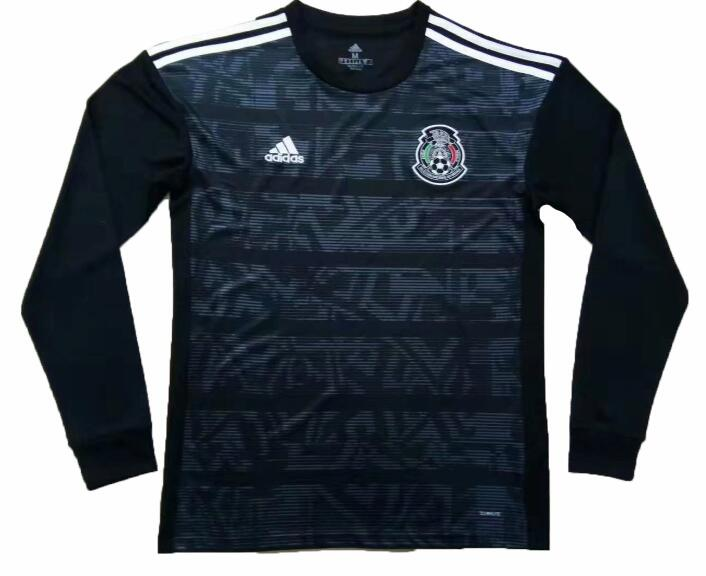 af08d40c6 Mexico 2019 Home Gold Cup Long Sleeved Shirt Soccer Jersey