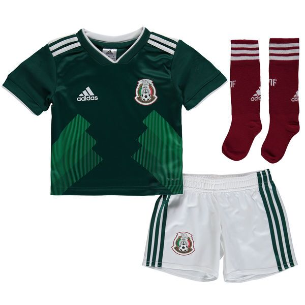 Mexico 2018 FIFA World Cup Home Kids Soccer Whole Kits (Children Shirt+Shorts+Socks)