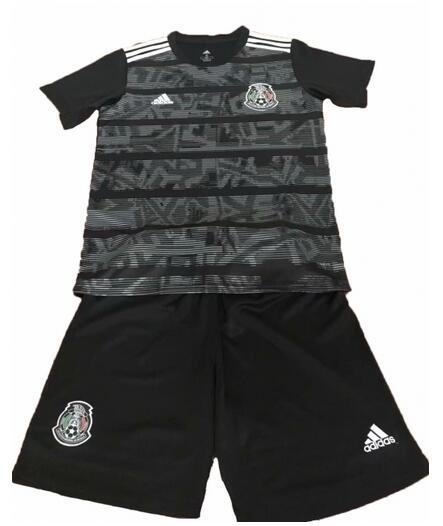 Mexico 2019 Copa America Home Kids Soccer Kit Children Shirt And Shorts