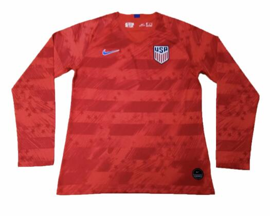 USA Copa America 2019 Away Long Sleeved Shirt Soccer Jersey