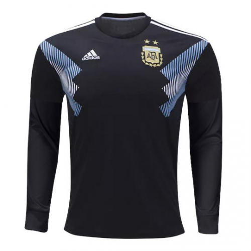 Argentina 2018 World Cup Away Long Sleeved Shirt Soccer Jersey