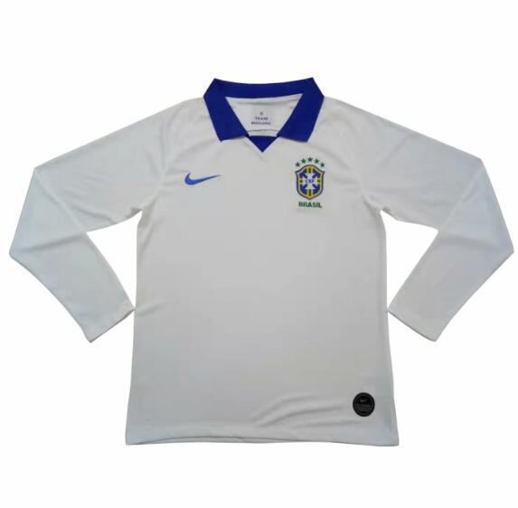 Brazil Copa America 2019 Away Long Sleeved Shirt Soccer Jersey