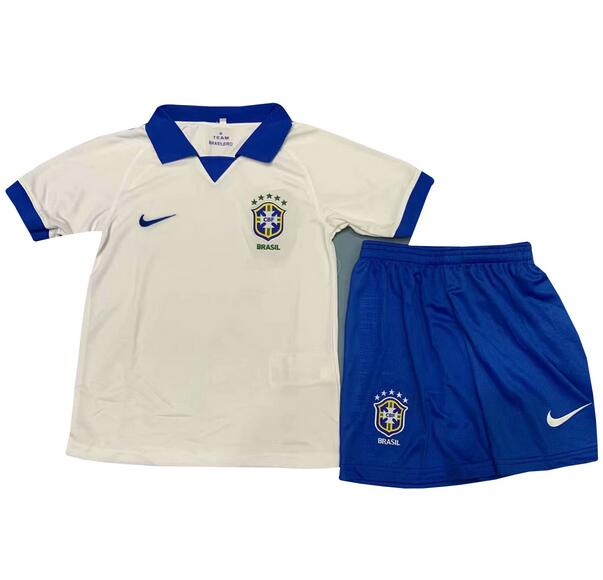 4f6af5f750f0 Brazil Copa America 2019 Away Children Soccer Kit Shirt And Shorts
