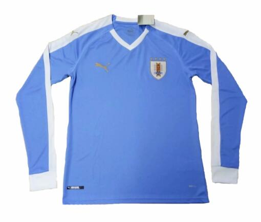 Uruguay 2019 Copa America Home Long Sleeved Shirt Soccer Jersey