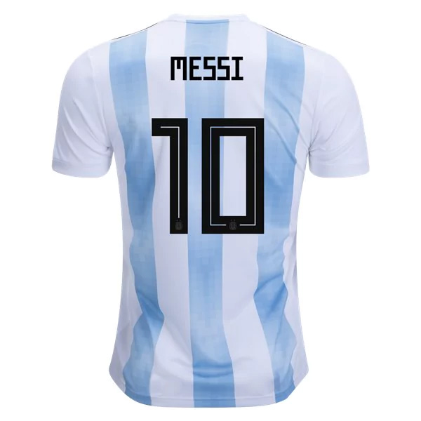 Argentina 2018 World Cup Home Messi #10 Shirt Soccer Jersey