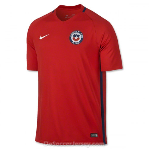 Chile 2016/17 Home Shirt Soccer Jersey