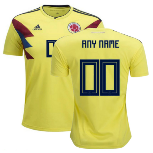 Colombia 2018 World Cup Home Personalized Shirt Soccer Jersey