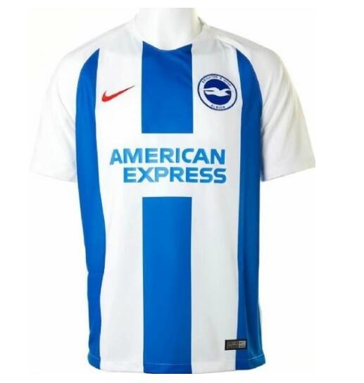 Brighton & Hove Albion 2018/19 Home Soccer Shirt Jersey