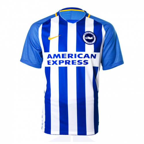 Brighton & Hove Albion 2017/18 Home Soccer Shirt Jersey