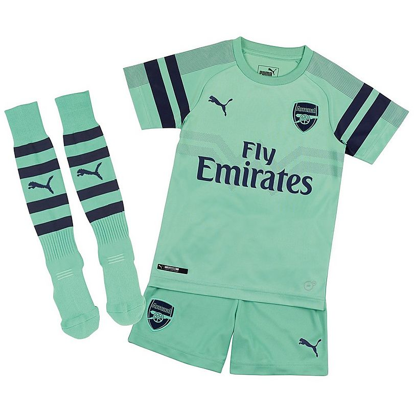 Arsenal 2018/19 Third Kids Soccer Jersey Kit Children Shirt + Shorts + Socks