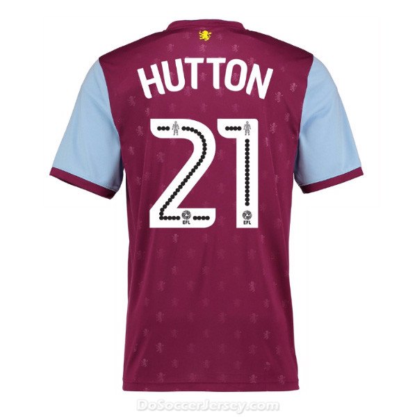 Aston Villa 2017/18 Home Hutton #21 Shirt Soccer Jersey