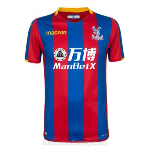 Crystal Palace 2017/18 Home Shirt Soccer Jersey