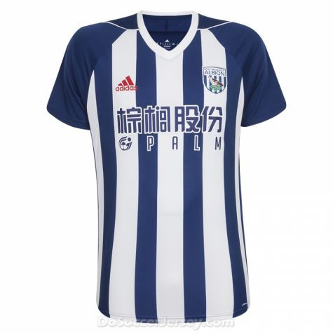 West Bromwich Albion 2017/18 Home Shirt Soccer Jersey