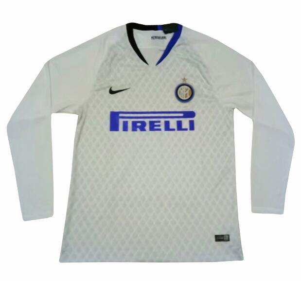 Inter Milan 2018 19 Away Long Sleeve Soccer Jerseys Shirt 13f97201e