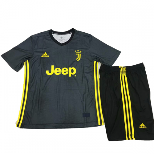 7f3196c5852 Juventus 2018 19 Third Kids Soccer Jersey Kit Children Shirt + Shorts