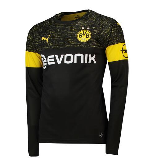 Borussia Dortmund 2018 19 Away Long Sleeve Soccer Jerseys Shirt 093148def