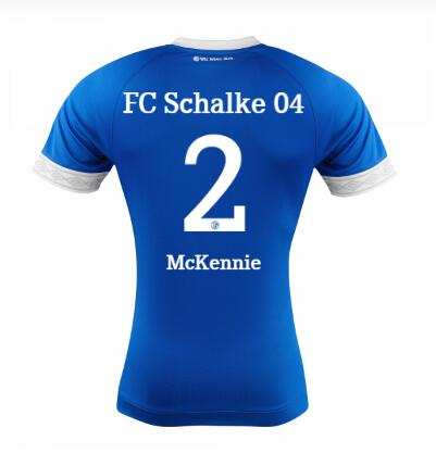 FC Schalke 04 2018/19 Weston McKennie 2 Home Shirt Soccer Jersey