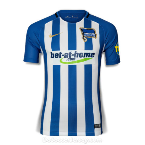 Hertha BSC 2017/18 Home Shirt Soccer Jersey