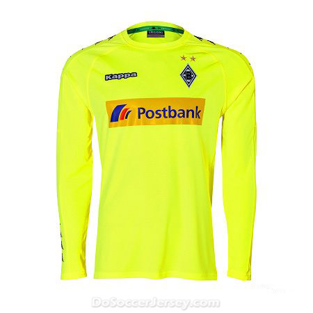 Borussia Monchengladbach 2017/18 neon-yellow Long Sleeved Goalkeeper Shirt