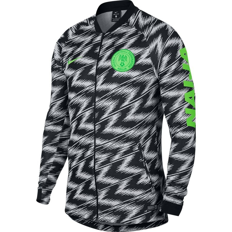 Nigeria 2018 World Cup Black/White Training Jacket Top