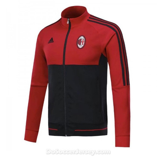 AC Milan 2017/18 Red Black Jacket