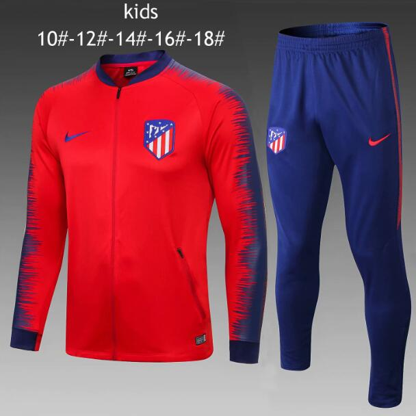 Kids Atletico Madrid 2018/19 Red Stripe Training Suit