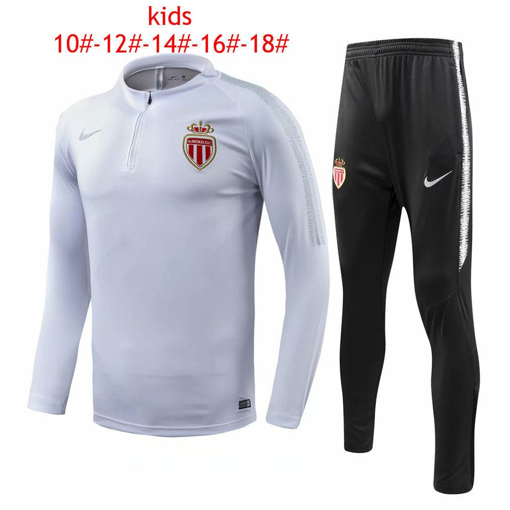 Kids AS Monaco 2018/19 White Training Suit