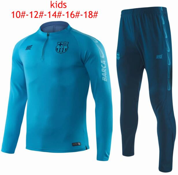 Kids Barcelona 2019/2020 Blue Training Suit (Sweatshirt+Pants)