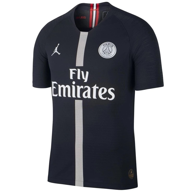 Match Version PSG X JORDAN COLLECTION 2018/19 Third Black Shirt Soccer Jersey