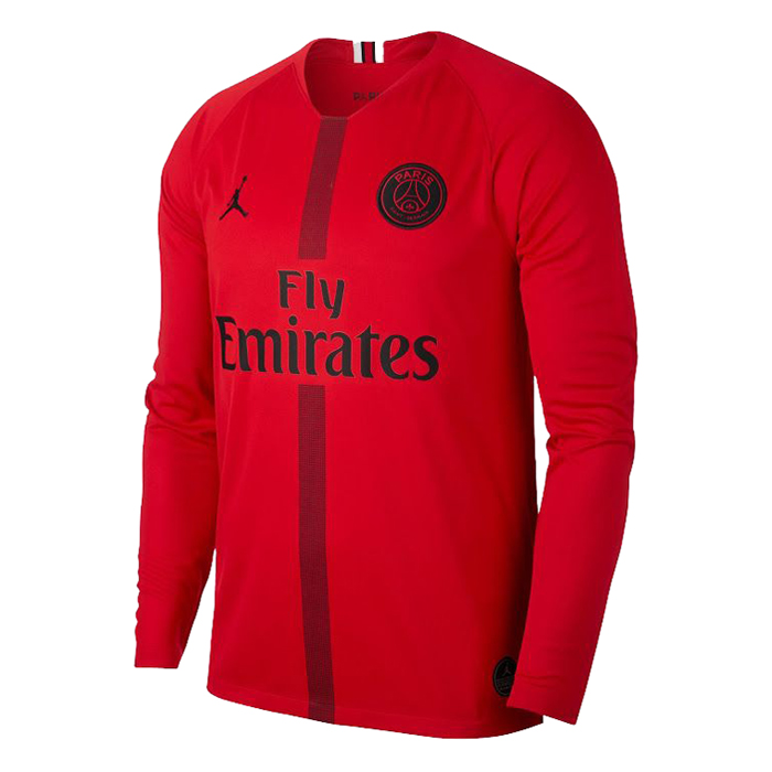 PSG X JORDAN COLLECTION 2018/19 Third Red LS Shirt Soccer Jersey
