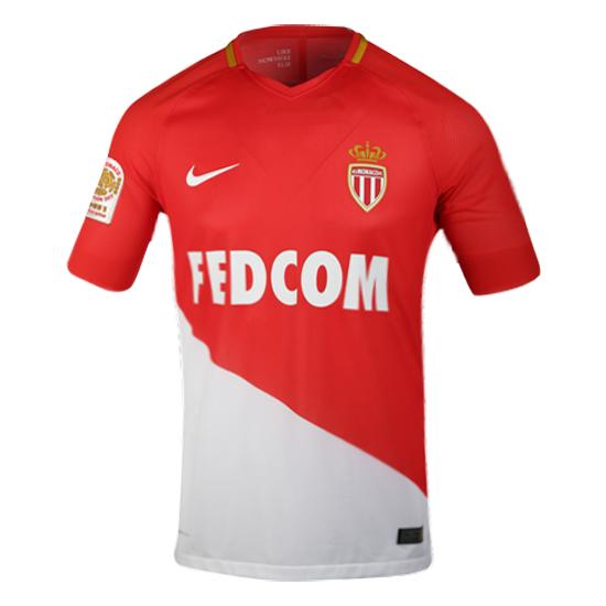 f84127a81 Match Version AS Monaco 2017 18 Home Shirt Soccer Jersey