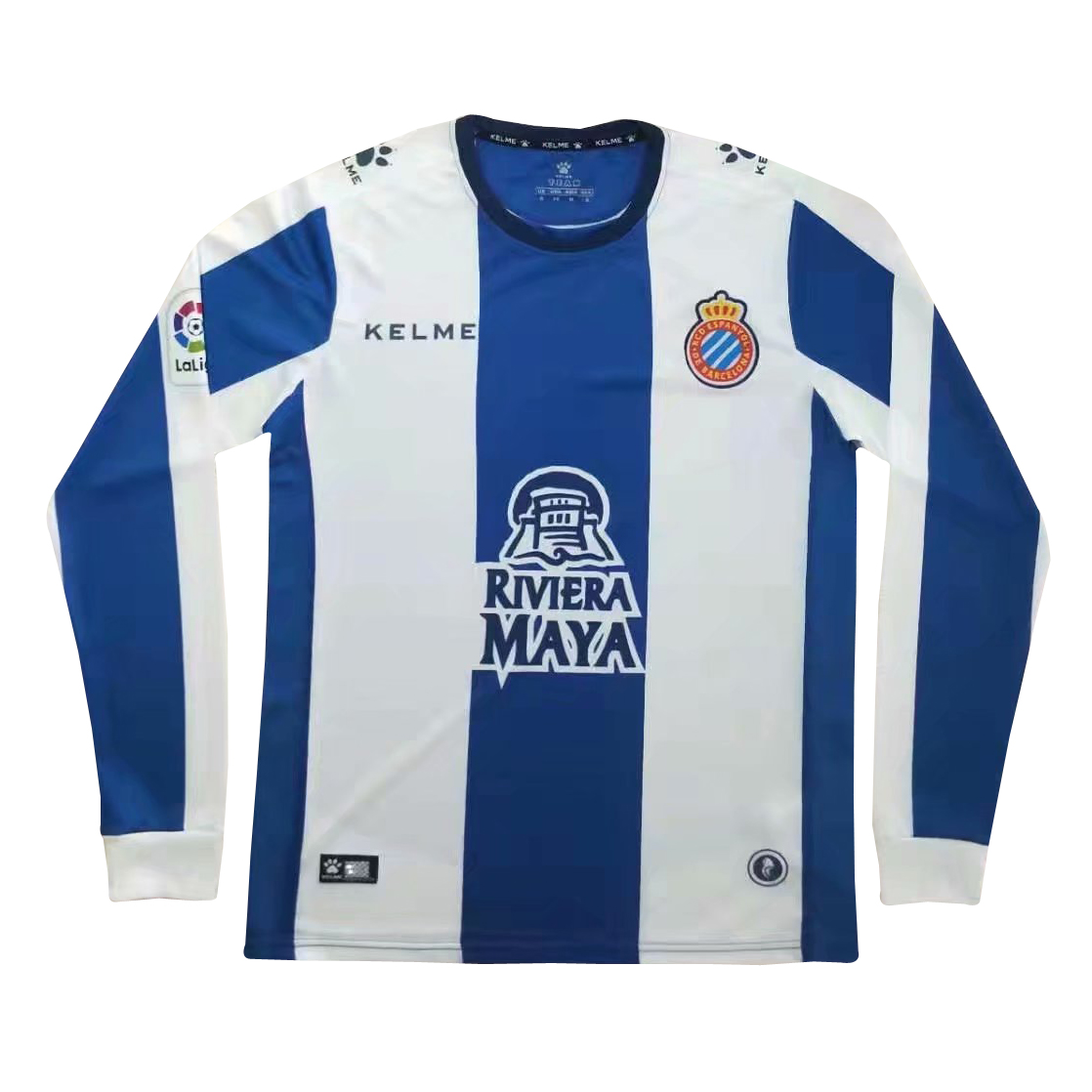 RCD Espanyol 2018/19 Home Long Sleeved Shirt Soccer Jersey