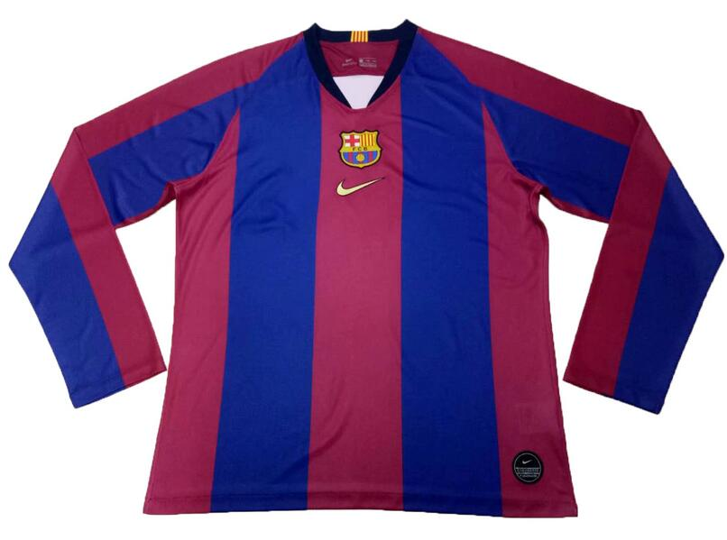 Clasico Barcelona Home Jersey Blue&Canary Long Sleeve