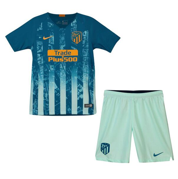 Atletico Madrid 2018/19 Third Kids Soccer Jersey Kit Children Shirt + Shorts