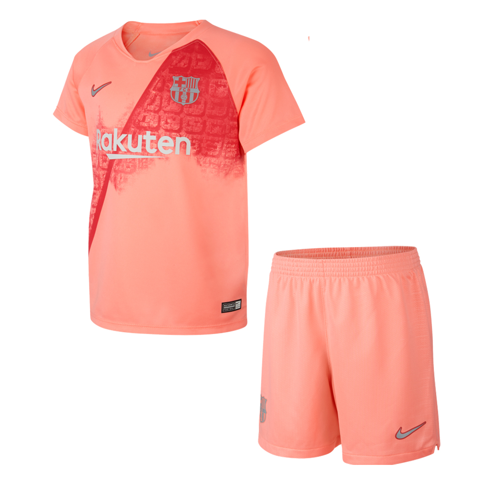 Barcelona 2018/19 Third Kids Soccer Jersey Kit Children Shirt + Shorts