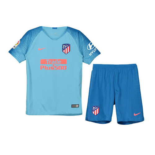 Atletico Madrid 2018/19 Away Kids Soccer Jersey Kit Children Shirt + Shorts
