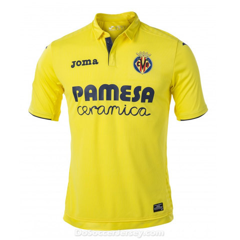 Villarreal 2017/18 Home Shirt Soccer Jersey