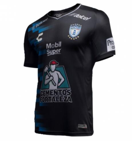 CF Pachuca 2018/19 Black Away Shirt Soccer Jersey